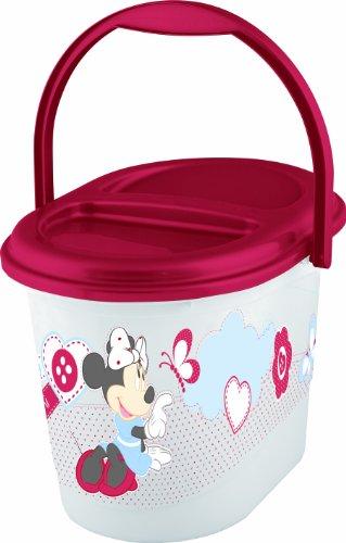 OKT Kids 1180010004700 - Contenedor para pañales, diseño de Minnie Mouse, color blanco