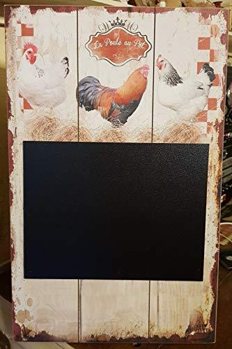 Class Deco Tableau en Bois/Ardoise Poule 48 * 30 cm