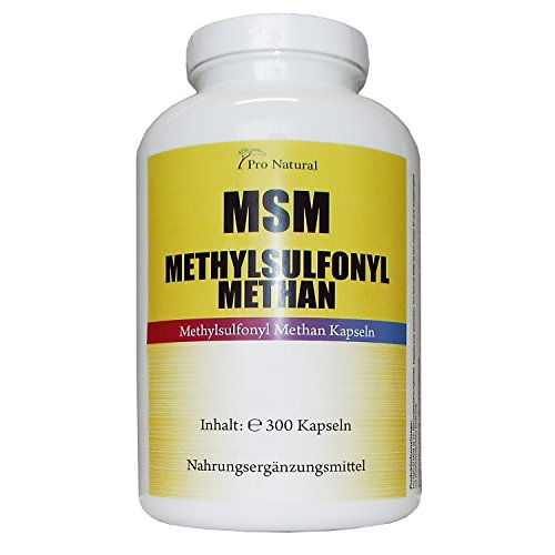 MSM 300 Kapseln Big Dose (Methylsulphonylmethan) - MSM Schwefel Pulver - 5-6 Monatsvorrat - Made in Germany