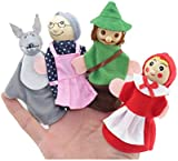 Tonsee® New 4PCS/Set Little Red Riding Hood Christmas Animal Finger Puppet toy Educational Toys Storytelling Doll