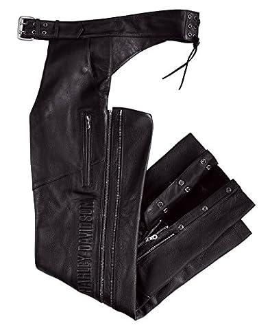 Harley-Davidson Men Deluxe Leather Chap 98091-06VM Herren Pants, Schwarz, XL (Harley Davidson Chaps)