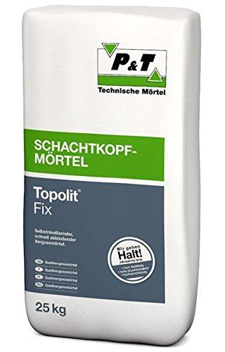 Topolit Fix Schnellvergussmoertel 25kg - Selbst nivellierender & schnell abbindender Vergussmörtel