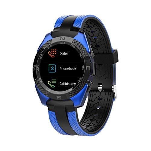 Jamicy Kalorien Sports Watch Miles Record Training Herzfrequenz Schrittzähler Smart Watch Armbänder für Fitbit Herzfrequenz Wasserdichte Bildschirm Uhr Sport Lauf Schrittzähler Funktion (Blau) (Mile Tracker-armband)
