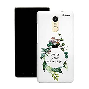 Customizable Hamee Original Cover Thin Fit Plastic Hard Back Case Cover for Lenovo Phab 2 Plus (write your own name in flowers)