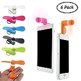 SIMUER Mini USB Ventilateur, 6 Pack Universal Portable 2 en 1 Mini Portable Phone...