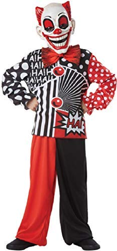 Fancy Me Jungen Lachen Clown Zirkus Freak Show Halloween Horror Unheimlich Kostüm Kleid Outfit 7-12 Jahre - 10-12 ()