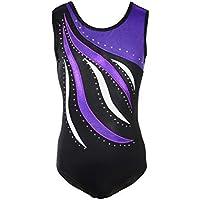 Reefa Leotards für Mädchen Gymnastik Kinder Einteilige Sparkle Ballett Tutu Kleid Tanz Turnanzug