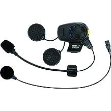 Sena SMH5-FM-UNIV Ecouteurs et Intercom Bluetooth avec Tuner FM Intégré pour Conducteurs de Scooter et Moto Universal microphone kit Single Pack