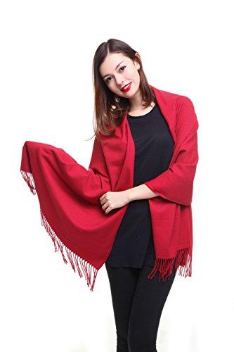 REEMONDE Large Super Soft Cashmere Blend Women Pashmina Shawl Wrap Stole Scarf