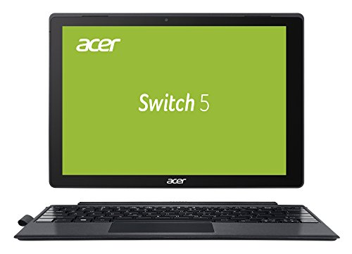 Acer Switch 5 (SW512-52-71TN) 30,5 cm (12 Zoll Multi-Touch QHD IPS) 2-in-1 Laptop (Intel Core i7-7500U, 8 GB RAM, 256 GB PCIe SSD, Intel HD, Win 10) anthrazit - Notebook 2-in-1