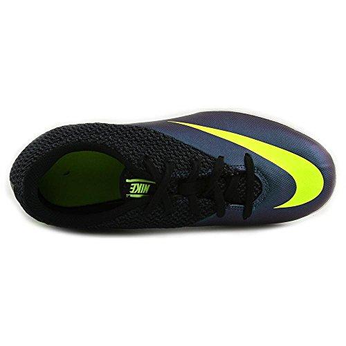 Nike  JR Mercurialx Pro IC, Chaussures de foot garçon - Azul / Verde / Negro (Squadron Blue / Volt-Black)