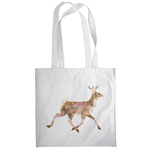 Texlab–Poly Deer–sacchetto di stoffa Bianco