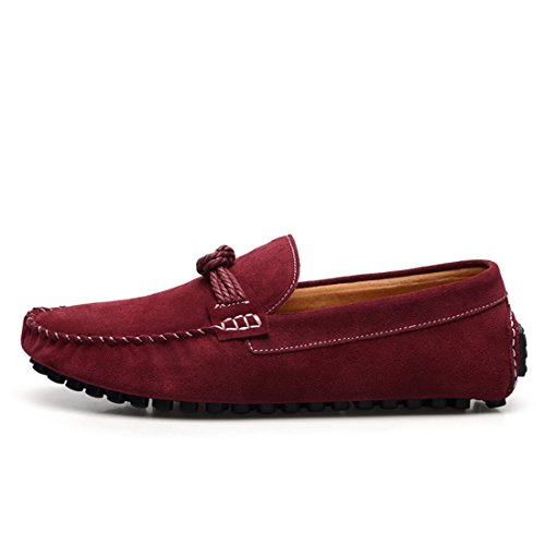 HENGJIA Herren Klassische Loafers Freizeitschuhe Schlupfhalbschuhe Bequeme Fahrerschuhe 7597 Hellbraun