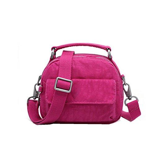 Tendenza Yy.f Della Moda Borse Piccoli Sacchetti Casuali Luminosi Sacchetto Donne Tela Pacchetto Diagonale Della Spalla Borsa Colore 3 Pink