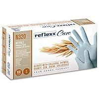 Reflexx N320/XS guantes desechables de nitrilo W/harina de avena coloidal 100pc (Pack de 100)