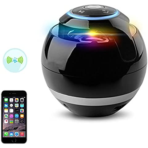 Ball Altavoz Bluetooth con LED de luz de flash/Bluetooth 4.1ecooltek portátil inalámbrico Altavoces Teléfono altavoz apoyo TF tarjeta/USB/FM