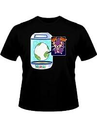 T-Shirt Manga - Parodie Rattata de Pokemon Go - Plus que 3 km... Nyark Nyark !! - T-shirt Homme Noir - Haute Qualité