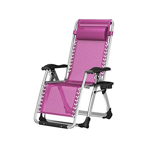 Liegestühle YANFEI Klappbarer Balkon-Lehnstuhl Stuhl Lazy Chair Siesta-Bett (Farbe : Pink)