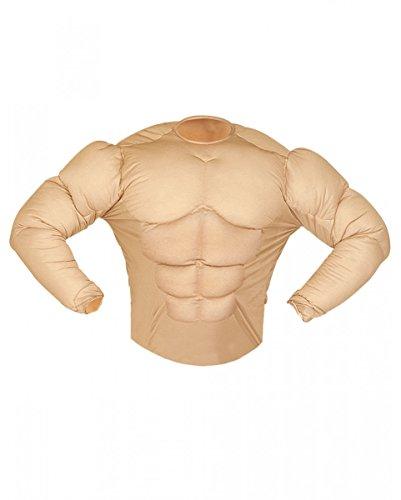 Super Muskelshirt Kostüm für Karneval & Junggesellenabschied M