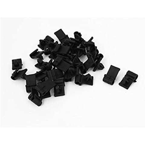 32 uds Remaches de Plástico Negro Protector Clip 5mm x 7mm x 8mm para Coche Parachoques