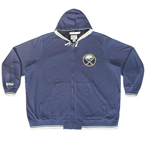 Big & Tall NHL Buffalo Sabres mens Athletic zip-up caldo con cappuccio, Uomo, Dark Blue Dark Blue