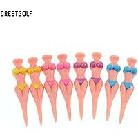 crestgolf 6pcs 8cm (80mm) Bikini Golf Tee, 4Color für Ihre Wahl