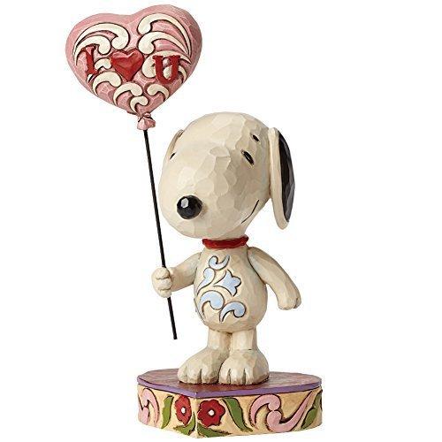 Jim Shore Snoopy I Love You Heart Balloon Resin Figurine by ENESCO CORPORATION ()