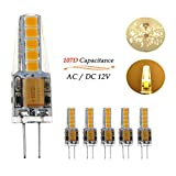 Ralbay G4 LED 12V, 6 x G4 LED 3W Pari a 30W 300LM Luce Bianco Caldo 3000K Lampada Lampadine G4 Ra80 AC/DC 12V Non Dimmerabile