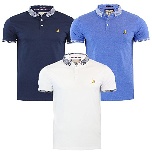 Brave Soul Mens Glover Polo T-Shirt Casual Top Golf Top