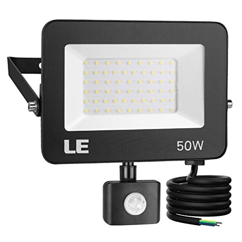 LE 50W Foco LED Exterior con Sensor Movimiento, 5000 lm, Foco LED...