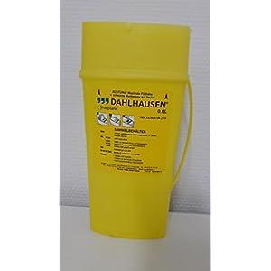 SHARPSAFE Abwurfbehälter 0,6 l, Sammelbehälter, für medizinische Einwegprodukte wie Spritzen, Ampullen und Kanülen