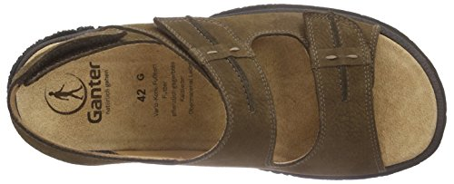 Ganter Giovanni, Weite G, Sandales  Bout ouvert homme Braun (mocca 2900)