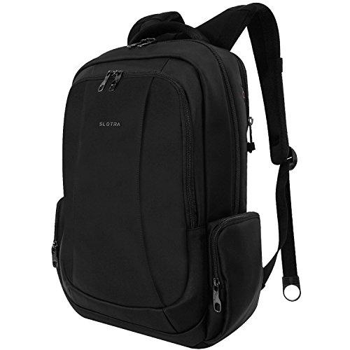 Slotra Business Laptop Rucksack 15.6 Zoll Wasserabweisend Reisen Outdoor Mordern Rucksack Schwarz