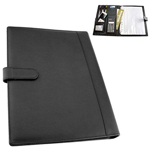 Preisvergleich Produktbild Portfolio A4 Schreibmappe Taschenrechner + Block Dokumentenmappe Konferenzmappe