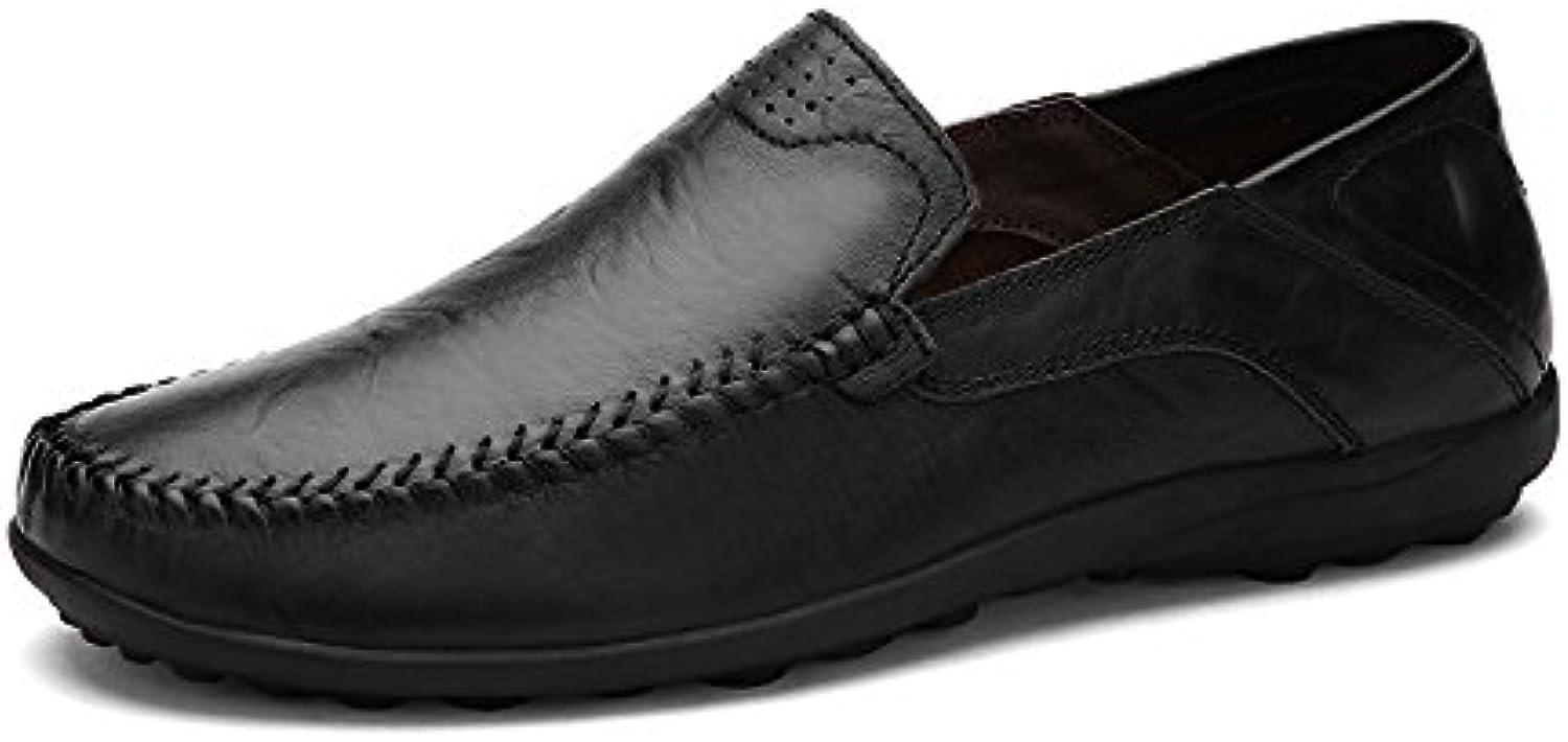 NBWE Mocasines Casuales de Cuero para Hombres Zapatos Respirables Británicos -
