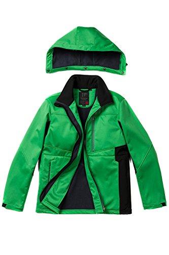 JP 1880 Herren große Größen   Softshell-Jacke   Funktioneller Materialmix   winddicht, atmungsaktiv   Innen aus Fleece   Stehkragen   Lange Ärmel mit Klettriegel   bis Größe 7XL   708439 Grün