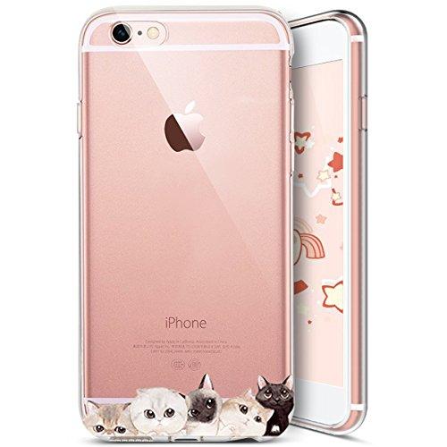 Coque iPhone 8 Plus,Coque iPhone 7 Plus,Ukayfe [Liquid Crystal] Coque en Silicone Souple TPU Housse Etui de Protection avec Absorption de Choc et Anti-Scratch Silicone Transparent Coque [Créatif Texte Chat#1