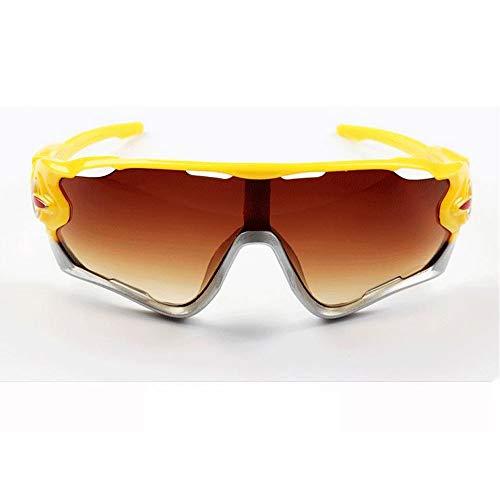 Szblk Outdoor-Sonnenbrillen Polarisierte Sonnenbrillen Kunststoff-Sonnenbrillen Männer und Frauen Sonnenbrillen Sport-Sonnenbrillen Driving Sonnenbrillen Retro Fashion (Color : Brown)