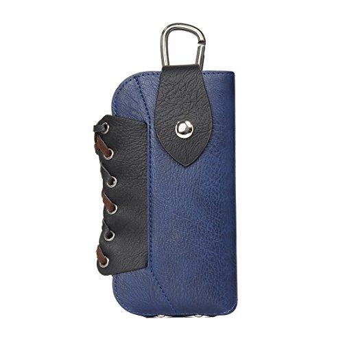 Phone case & Hülle Für IPhone 6 Plus / 6s Plus, Samsung Galaxy S7 / G930 & S7 Edge / G935 & S6 / G920 & S6 Edge / G925, Größe: 16 X 9 Cm, klassische Stil Elefanten Textur Farbe Matching Bicolourable V Dark Blue