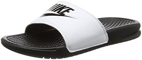 Nike Benassi Jdi, Ciabatte Uomo, Bianco (white/black Black), 46 EU