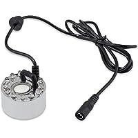12 LED-Nebel-Hersteller Fogger Wasser-Brunnen-Teich-Nebelmaschine Atomizer Luftbefeuchter mit Wechselstrom-Adapter