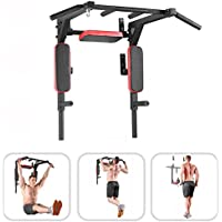 Bar2Fit Klimmzugstange Wandmontage Mit Dip Barren - Bis 200kg - Für Workout Crossfit Fitness