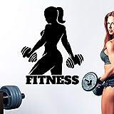 zaosan Wandaufkleber Fitness Gym Club Name Aufkleber Mädchen Hanteln Crossfit Aufkleber...