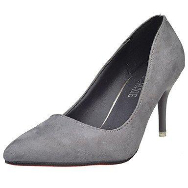 Slippers & amp delle donne;Infradito Estate Comfort PU casual tacco grosso Lace-up Walking Nero Bianco,Grigio,US5.5 / EU36 / UK3.5 / US8 / EU39 / UK6 / CN39