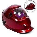 future Shield energia solare 9–13tonalità saldatore auto-oscurante grande View (9,3x 4,3cm) ARC TIG MIG saldatura cappuccio maschera, rosso