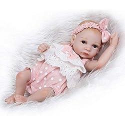 """Nicery Reborn Baby Bambino Bambola Simulazione Silicone Vinile 10""""25cm Amici dei bambini impermeabile Bathe Regalo del giocattolo Cute Girl con abito per il Ringraziamento Nero Natale Venerdì"""