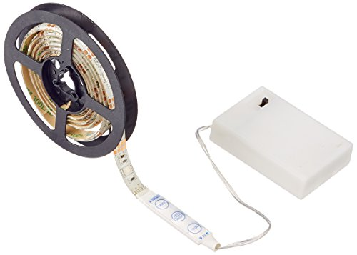 Simfonio Batterie LED Streifen TV Hintergrundbeleuchtung 1m 30 LEDs IP65 Wasserdicht 5050 SMD Led Strip Full Kit mit Mini Controller