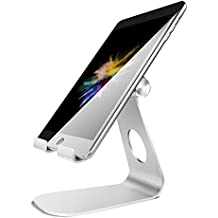 Support Tablette, Lamicall Support Universel Multi-Angles : Aluminium Portable Stand pour iPad Pro / iPad Air / Air 2, iPhone 7 Plus, 6s Plus, Samsung S3 S4 S5 S6 S7, E-readers et les Smartphones (Argent)