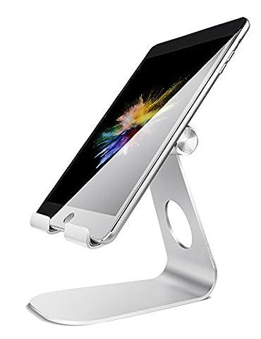 iPad Ständer Verstellbare, Lamicall Tablet Staender : Universal Halter, Halterung, Dock, Wiege für iPad Pro 10.5 / 9.7, iPad Air 2 3 4, iPad mini 1 2 3 4, Samsung Huawei E-Reader und Google Nexus 7 10 4 Tablette Schreibtisch, andere Tab Smartphone 5''-13'' - Silber