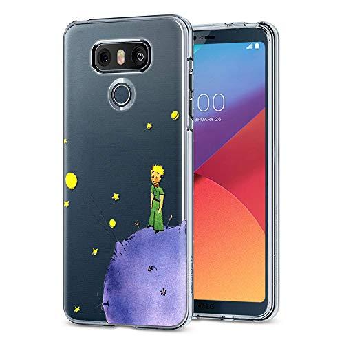 yoedge cover lg g6 antiurto custodia trasparente con disegni [the little prince] ultra slim protective case bumper in tpu silicone per lg g6 smartphone(porpora)